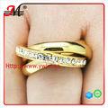 R6988 nueva llegada de moda de diseño de oro anillos de cristal, de alta