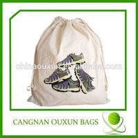 Stylish customized cotton drawstring shoe bags