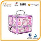 pink love shape picture cosmetic case /make up box/ unique design bag