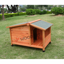 Unique design UV proof asphalt roof Kennel with Veranda