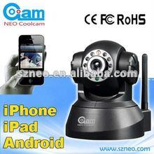 Pan/Tilt robot wifi plug and play indoor wireless ip camera network