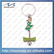 hot sale high glad custom lovely enamel 3D cartoon princess metal key chain