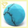 حجر الفيروز الأزرق جولة قص الماس مع الشق