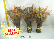 2013 18 INCH AUTUMN QUEEN LACE/FEATHER/GRASS DESKTOP BUNDLE FOR HOME DECOR