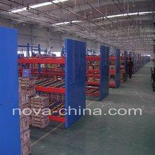 flow through rack for warehouse storage