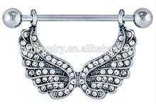 Sparkle Angel Wings Nipple Shield/Nipple Ring Fashion Body Piercing Jewelry