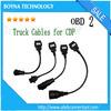 2015 New Deisgn 8pcs set CDP truck connect cables OBD OBD2 OBDII Diagnostic Adapter Cable