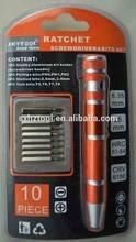 HZE-8165 9-in-1 pocket precision screwdriver bits set for IPHONE