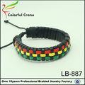 Rasta reggae pulsera, de reggae jamaicano pulsera
