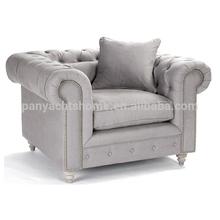 Classic French design fabric single seat living room sofa, noble sofa