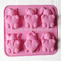 de silicone de chocolate do molde da bandeja de alta qualidade de silicone molde forma cartoon molde