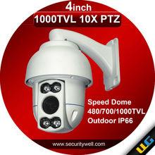 Outdoor IP66 PTZ camera,10X IR 50M High Speed dome Optional 480TVL 700TVL 1000TVL
