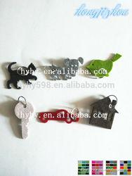 #14061107 fancy felt key ring, custom keychain