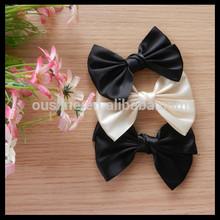 cheap price satin ribbon boutique bows for kids headwear