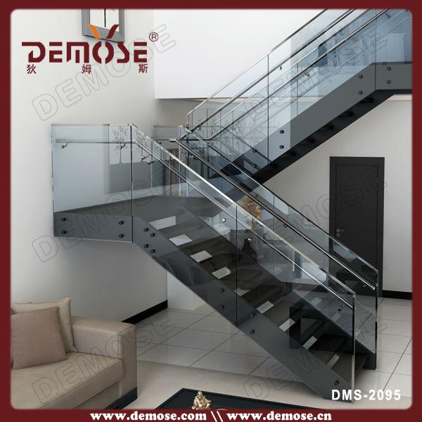Indoor u vorm glazen balustrade trap ontwerpen trappen - Trap ontwerpen ...