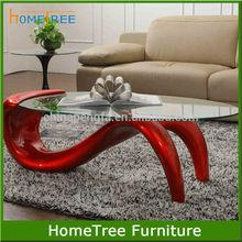 New design glass animal coffee table