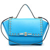 GL391 best sellers china for 2014 fashion studded leather quilted tote bag