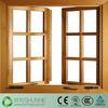 China low price double glazing glass sliding wood windows
