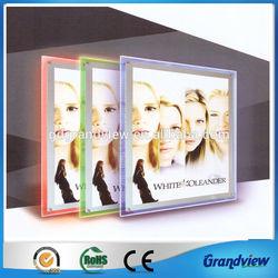 crystal single sided RGB led light photo frame