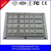 Rugged metal illuminated keypad with 24 led backlit keys