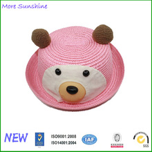 Hot Baby Paper Straw Animal Ear Straw Hat
