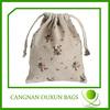 Stylish drawstring linen drawstring bag