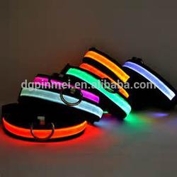 2014 hot sale LED nylon pet dog collar