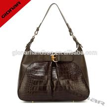 european shoulder bags for women brown vintage crocodile leather bags