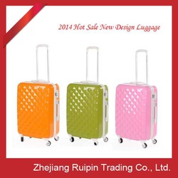 Newest compass luggage trolley bag ABS suitcase PC luggage