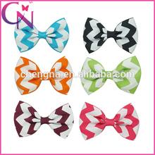 Small Chevron Girl Hair bow butterfly hair bow clip ( CNHBW-14061315)