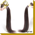 Crudo pelo virginal indio sin procesar extensión del pelo 6a virginal peruana humano, 100% virginal del pelo recto brasileño