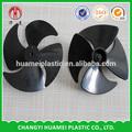 axial de plástico aspas del ventilador