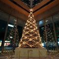 Alambre de navidad iluminado árbol para ir de compras plaza +