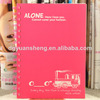 wholesale school plastic cover spiral notebook with good price