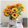2014 artificial flor de seda artificial girassol artificial girassol bouquet fake girassóis