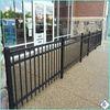 Galvanized E-coat Powder Coated 3 Rails Flat Top used aluminum fence