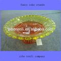 colorida flor forma borda da onda vintage temperado placas de vidro que serve pratos