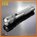 le plus puissant longue poutre en aluminium 3 watt cree led lampe de poche pour la vente