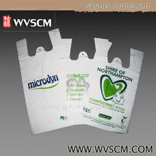 Eco biodegradable & compostable t-shirt plastic bags for super market retail