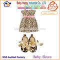 moda leopar toptan bebek ayakkabıları bebek leopar elbise