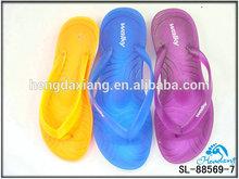 Bright color of rubber slipper