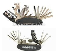 Multi-function bicycle tool kit
