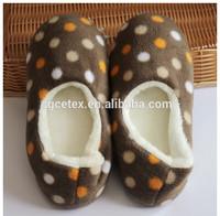 GCE253 Printed fleece women pedicure slippers for wholesale