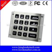 16 led backlit keys usb metal illuminated numeric keypad