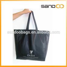 stock PU leather shopping bag free sample stock bag