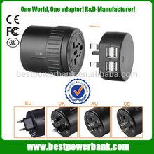 HC-108-4 USB Universal Worldwide Travel Adapter, UK,AU Wall power adapter,worldwide power adapter with 4 usb