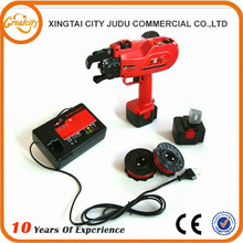Saving labors by using electric reinforcing steel bar tying machine