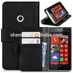 Credit Card Holder Custom Mobile Phone Flip Case Cover For Nokia Lumia 520