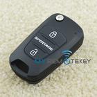 Hot sale 434mhz Folding smart key remote key 3 button for Kia Sportage flip auto key