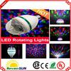 E27 3W Colorful Rotating RGB 3 LED Spot light bulb Lamp for Disco DJ Bar Party